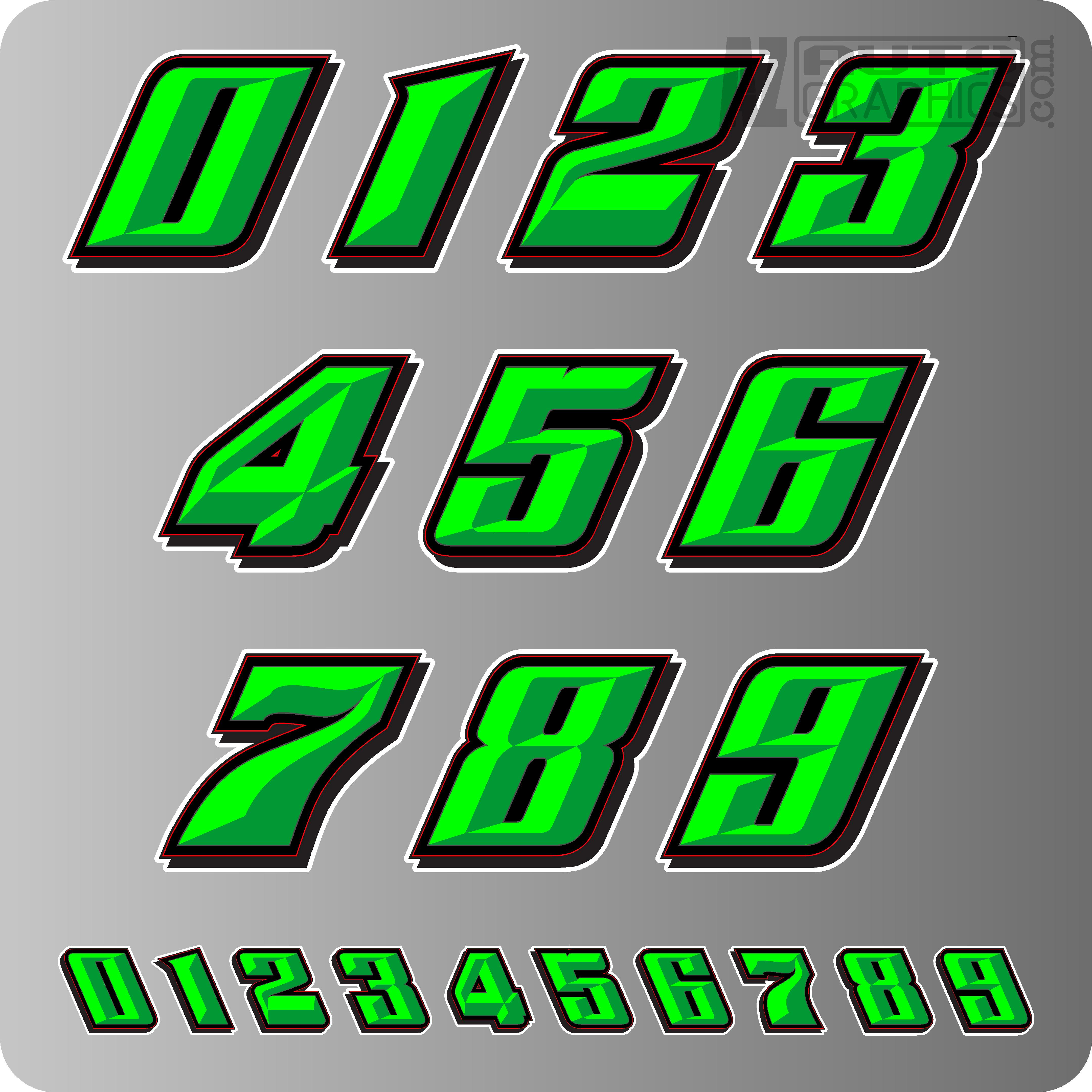 Race Car Numbers SHOWTIME