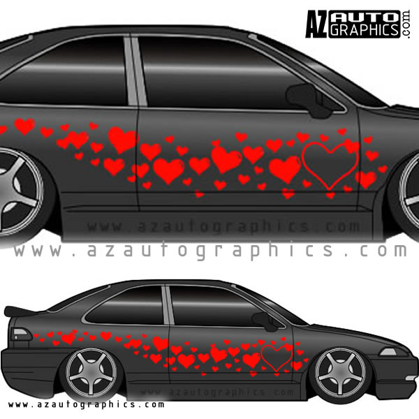 Pattern Designs Hearths Design - Auto graphics for car